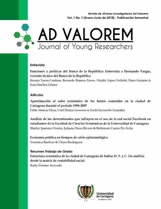Revista de Jóvenes Investigadores Ad Valorem